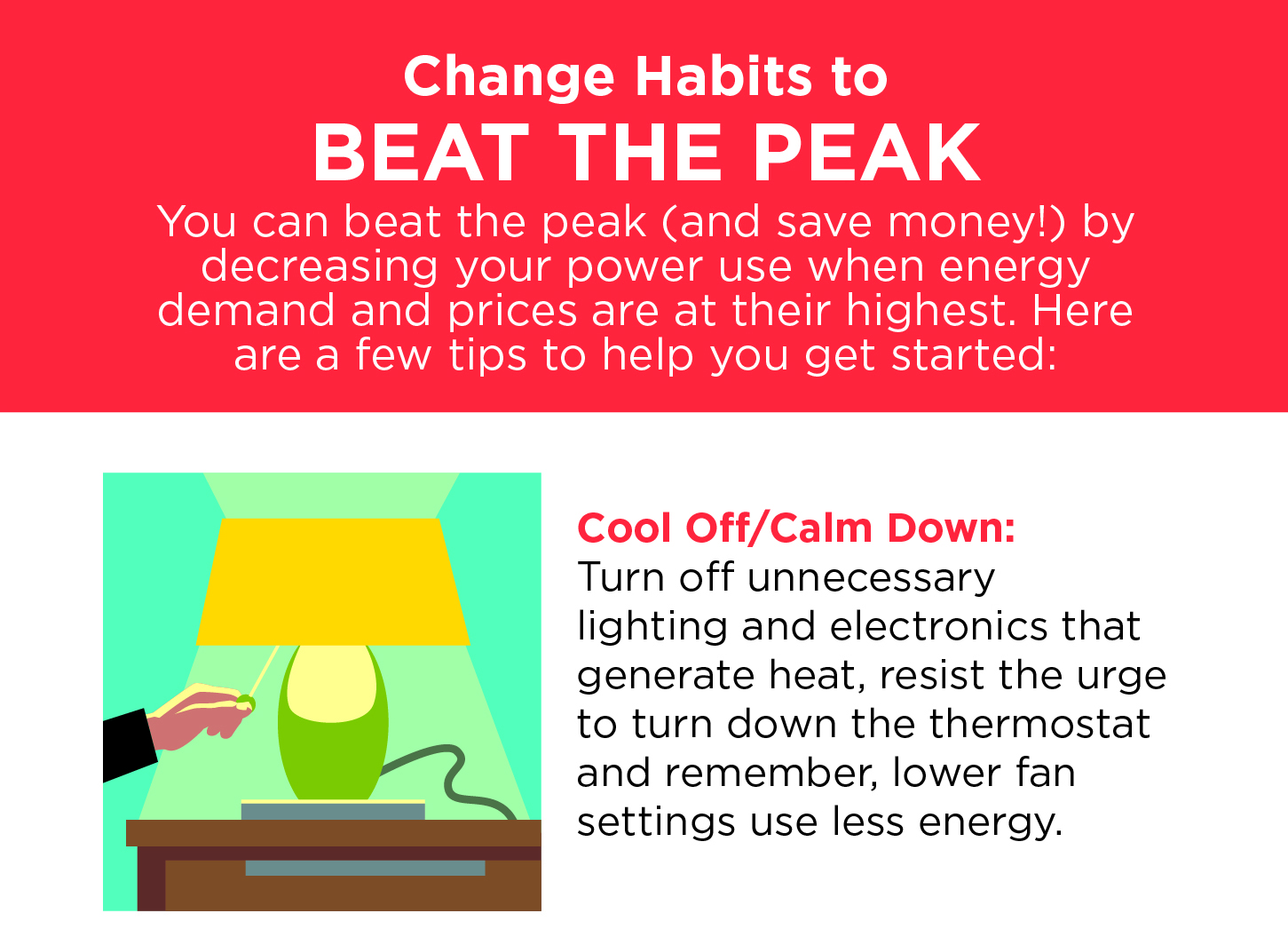 Turn off lights to save energy